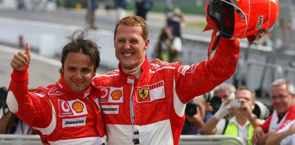 Schumacher leads Ferrari one-two at German GP