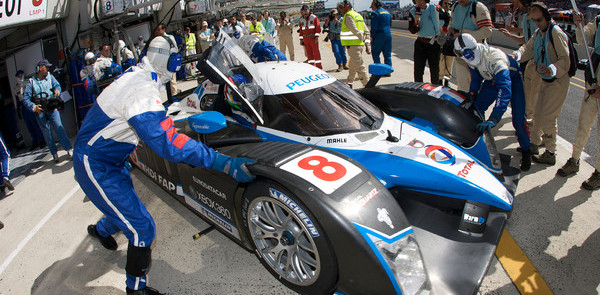 Peugeots hit trouble, Audi leads in hour three
