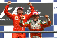 Raikkonen nips Fisichella for victory in Belgium