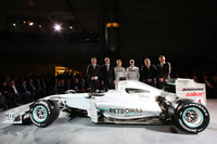 Mercedes Petronas showcase drivers in Stuttgart