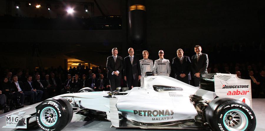 Mercedes Petronas showcase drivers in Stuttgart