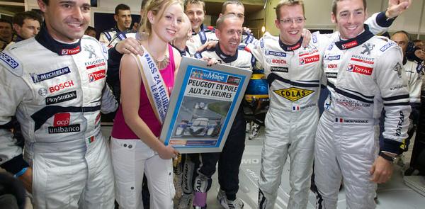 Bourdais' fastest time gave Peugeot the pole