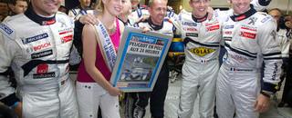 Le Mans Bourdais' fastest time gave Peugeot the pole