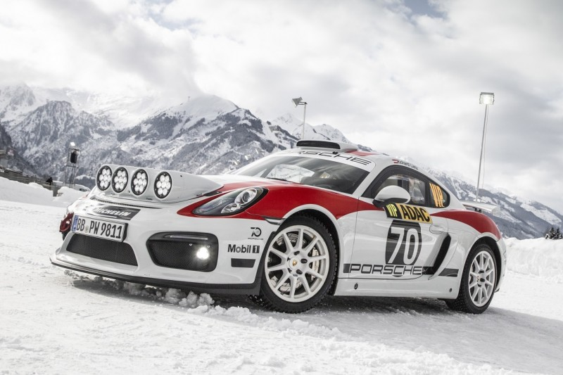 Zurück in den Rallyesport: Präsentation des Porsche Cayman GT4 Rallye