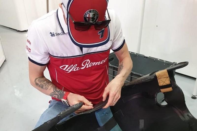 "Social-Media-Hit: ""Mechaniker"" Kimi Räikkönen repariert seinen eigenen Sitz"