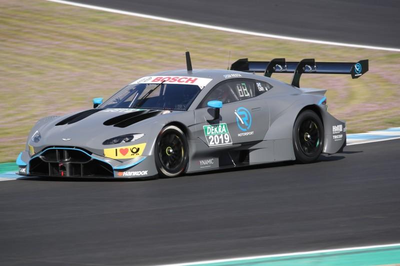 Aston Martin Vantage DTM in Jerez erstmals auf der Rennstrecke