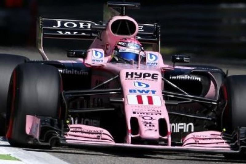 Force India z nowymi częściami