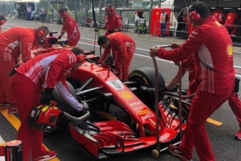 Vettel z poprawionym silnikiem
