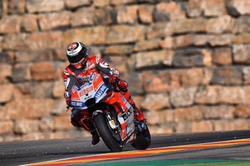 Lorenzo z pole position, Rossi odpadł w Q1