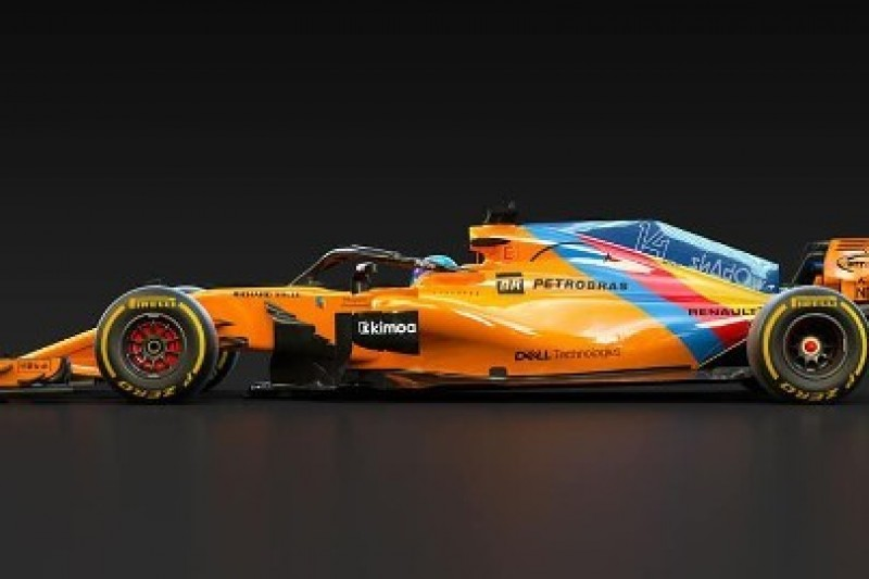 Specjalne barwy samochodu Alonso