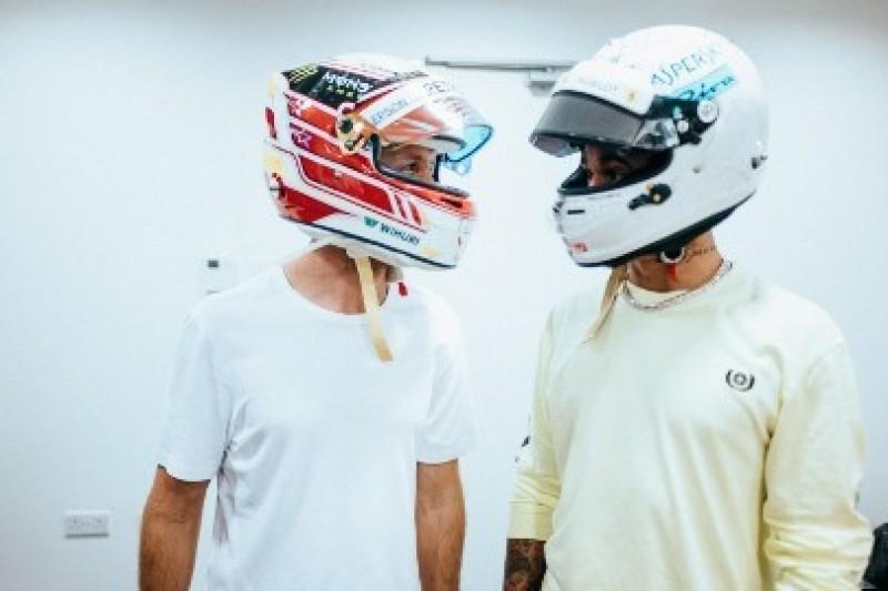 Hamilton i Vettel wymienili się kaskami