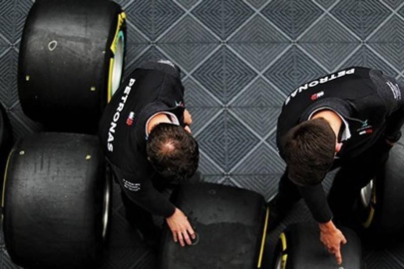 Ograniczenia w testach opon F1