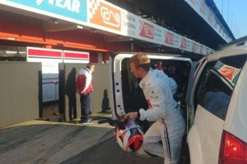 Räikkönen w żwirze