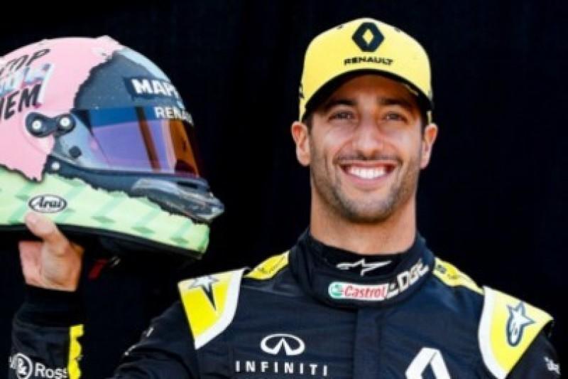Śmiały kask Ricciardo