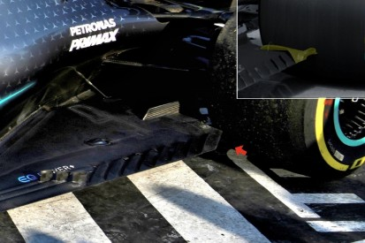 Formel-1-Technik: An dieser Stelle war Lewis Hamiltons Unterboden kaputt
