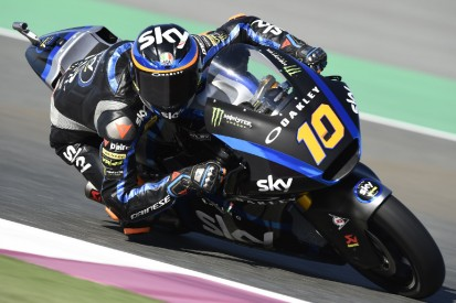 Moto2 Argentinien FT1: Luca Marini vorn, Marcel Schrötter Dritter