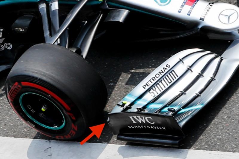 FIA zufrieden: So modifizierte Mercedes seinen umstrittenen Frontflügel