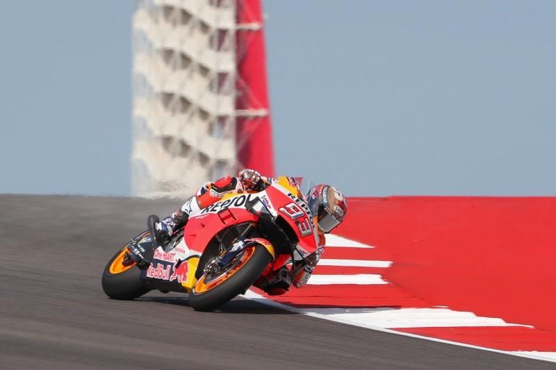 MotoGP-Qualifying: Marquez rast zur siebten Austin-Pole, Rossi Zweiter