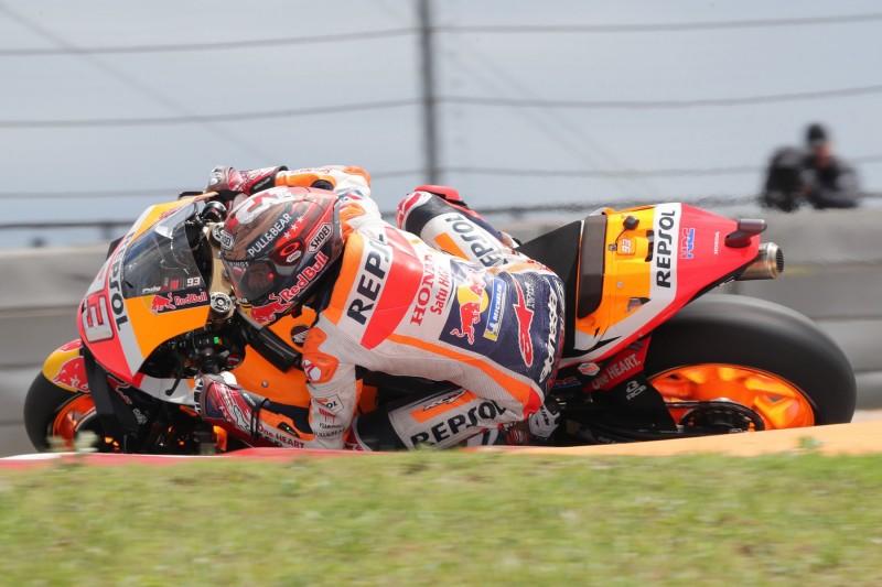 MotoGP Austin Warm-up: Marquez trotz Beinahe-Crash Schnellster