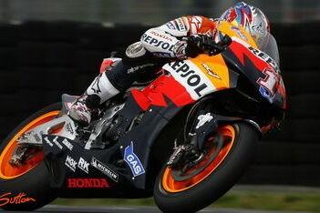 Nicky Hayden mist tweede startrij