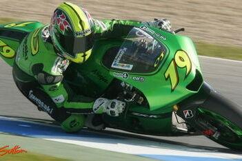 West test voor Kawasaki in Barcelona