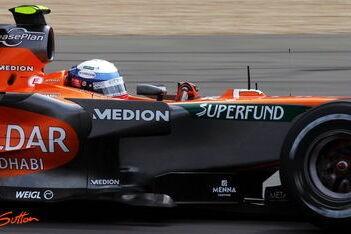 Spyker F1 komt niet van de laatste rij