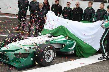 Team Pakistan onthult nieuwe auto