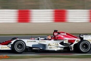 Force India test met Fisichella, Schumacher en Montagny