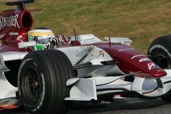 Prima vierde tijd voor Fisichella in Barcelona