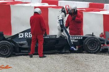 Nakajima weer in orde na crash Barcelona