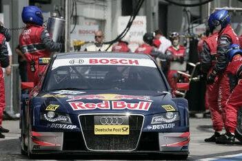 Ekström vooraan in warm-up Brands Hatch