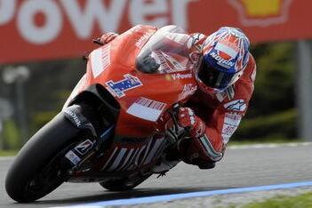 Stoner vooral bezig met GP9-test in Valencia