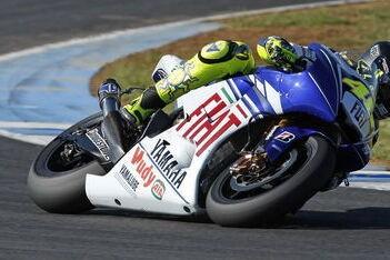 Rossi tevreden over eerste testdag in Jerez
