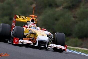 Alonso snelste op vierde testdag in Jerez