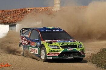 Hirvonen leidt in Portugal, zware crash Latvala