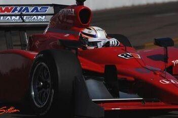 Doornbos test op Texas Motor Speedway