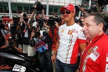 Schumacher spreekt steun uit voor Jean Todt