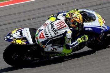 Rossi uitstekend van start op vrijdag Australië
