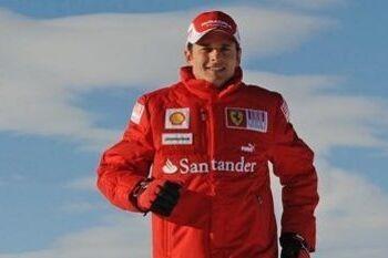 Fisichella op weg naar racezitje bij Sauber