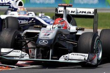 Schumacher scoort geen punten in moeilijke race