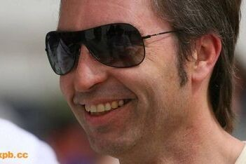 Frentzen steward tijdens Europese Grand Prix