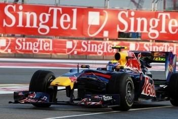 Webber snelste in eerste training Singapore