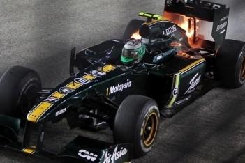 Spectaculaire brand beëindigt race Kovalainen