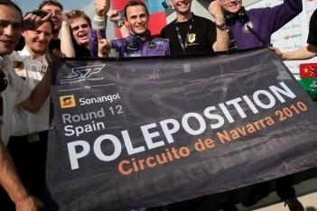 Rigon grijpt pole-position op circuit van Navarra