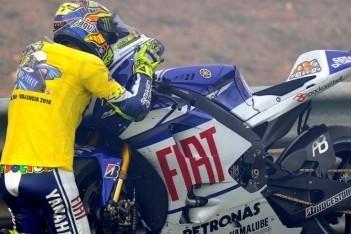 Emotioneel afscheid voor Rossi en Yamaha