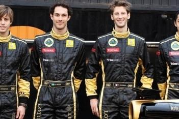 Grosjean en Senna derde rijders Lotus Renault