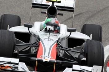 Hispania ziet finishvlag voor het eerst in China