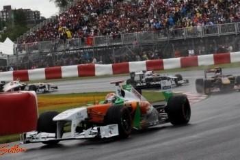 Teleurstellend weekeinde voor Force India