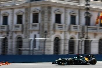 Team Lotus-duo put hoop uit Europese Grand Prix