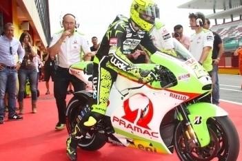 Iannone rijdt eerste meters op MotoGP-motor